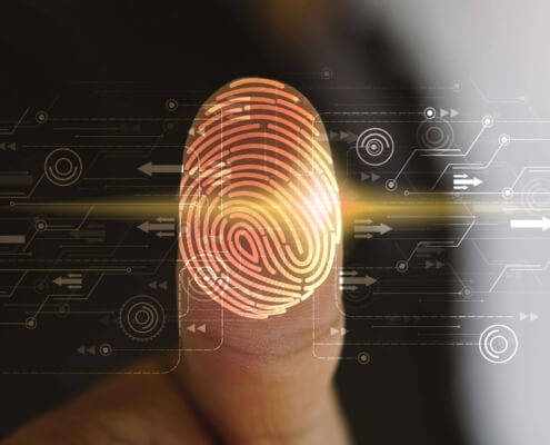fingerprint security graphic