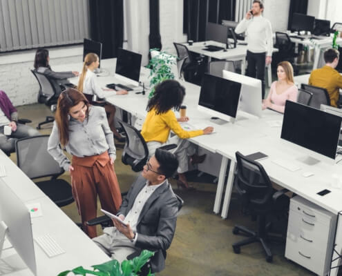 group of people working in office 1
